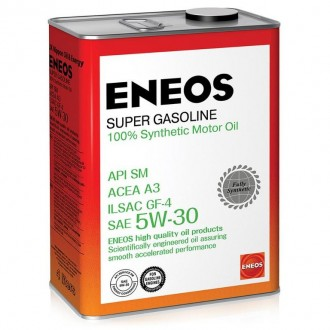 Моторное масло ENEOS Super Gasoline 5W-30, 4 л