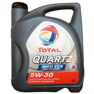 Моторное масло TOTAL QUARTZ INEO ECS 5W-30, 4 л